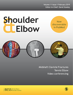Mr Andrew Wallace published in Shoulder and Elbow Journal